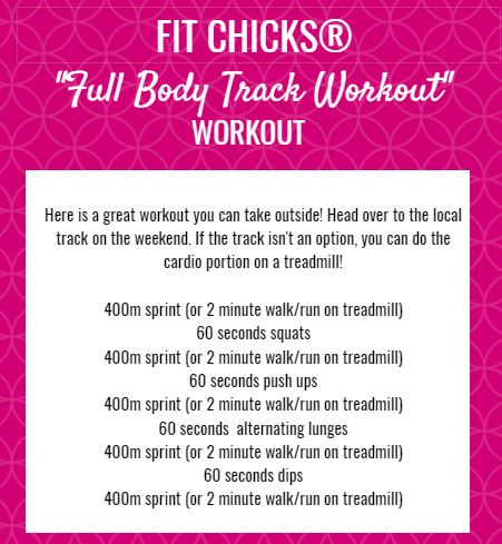 Fit Chicks Friday Total Body Track Hiit Workout Fit Chicks Academy