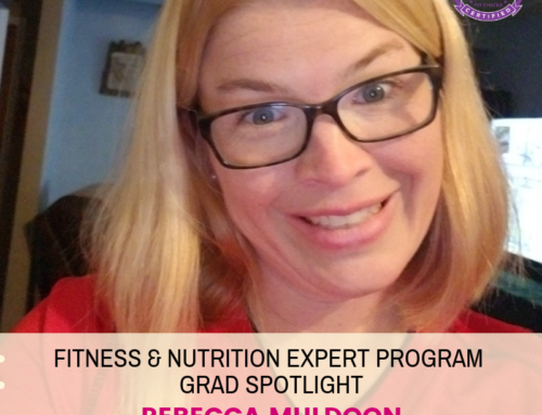 "GRAD SPOTLIGHT: ""Apple Pecan Protein Coconut Crisp"" with Fitness & Nutrition Expert Grad Rebecca Muldoon"