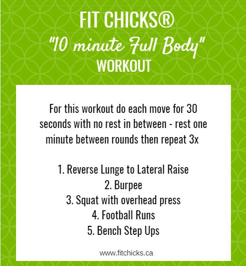 FIT CHICKS Friday 10 Minute Full Body Workout — FIT CHICKS BLOG
