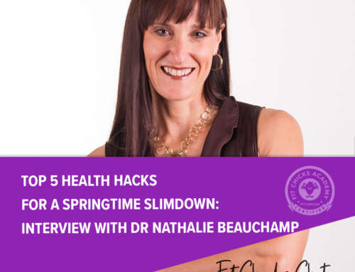 FIT CHICKS Chat Episode 206 Top 5 Health Hacks for a Springtime Slimdown: interview with Dr Nathalie Beauchamp
