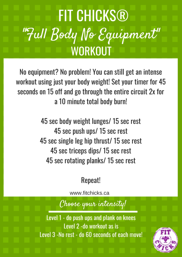 Friday Full Body No Equipment Workout