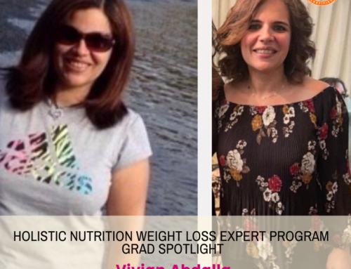 GRAD SPOTLIGHT: Strawberry Green Smoothie with Holistic Nutrition Weight Loss Expert Grad Vivian Abdalla