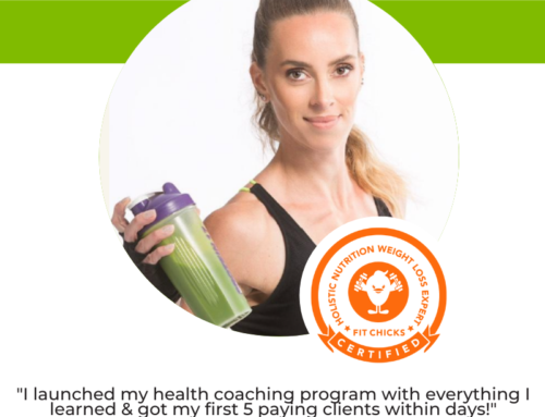GRAD SPOTLIGHT: Vegan – High Fiber – Pea Protein Green Smoothie with Holistic Nutrition Weight Loss Coach Monique Guffens